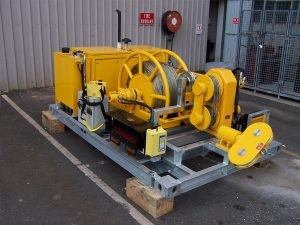 35kN Bull Wheel Winch - Skid-mount